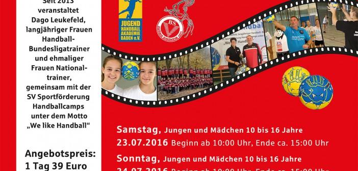 23. – 24. Juli 2016 SV-Handballcamp BSV Phönix Sinzheim