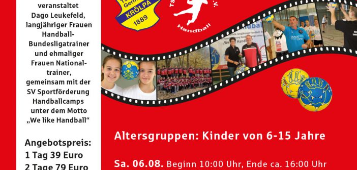 06.-07.08. 2016 SV Handballcamp beim TSV Germania Krölpa