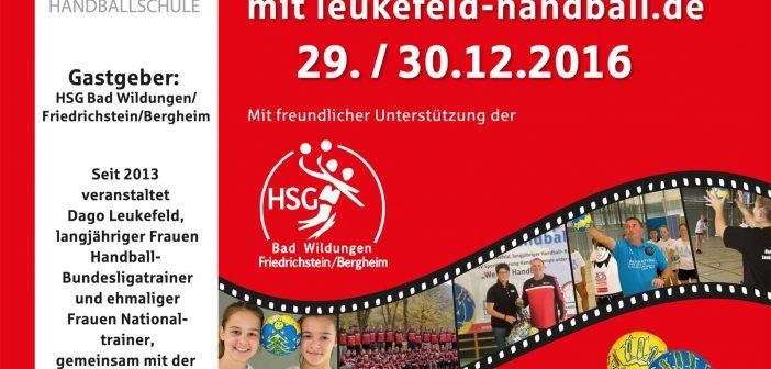 29./30.12.2016 – Handballcamp HSG Bad Wildungen/Friedrichstein/Bergheim