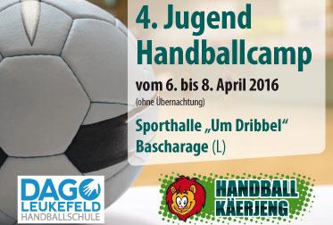 Handballcamp Bascharage (Luxemburg) – 06. bis 08. April 2016